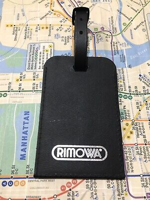 """Rimowa Luggage Leather Tag 100% Authentic 4.5""""x3"""" In Black Color"""
