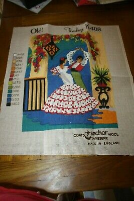 Tapestry Canvas  Coats  ' Ole' Spanish Dancer Un worked