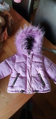 next girls coat jacket 3-4 lilac very good condition