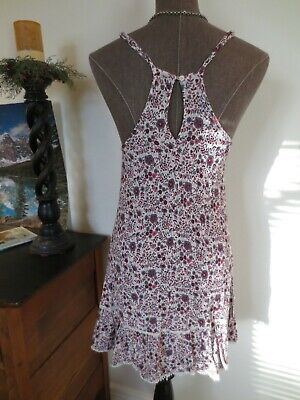 AEO American Eagle Floral SunDress Ivory, Gray, Pink, Purple - S