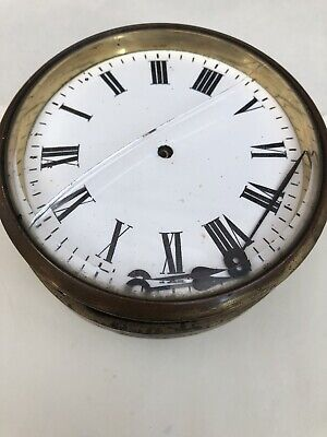 Victorian Heavy Brass Clock Insert Dial And Hands