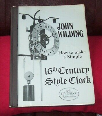 Clock book J Wilding clock book clock parts
