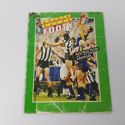 Aussie Rules Footy Instruction Manual For NES Video Game *Booklet Only*