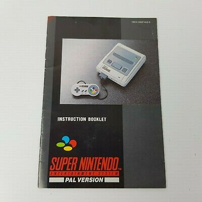 Instruction Booklet For SNES Super Nintendo Entertainment System *Manual Only*