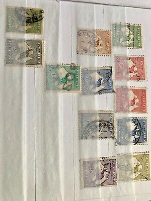 COMMONWEALTH Australia EARLY STAMP COLLECTION inc Roos 5s HCV Roos