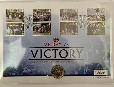2020 VE Day Victory 75th Anniversary £2 Stamp & Coin Cover.