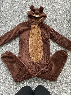 Grizzly Bear All In One Fleece Size 10-11 Years From George