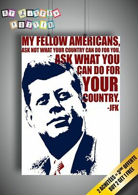 Jfk Quote Wall Art Poster