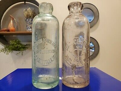 Pair of Hutchinson bottles New York