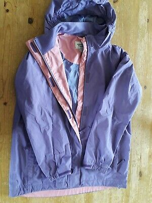Age 11-12 Girls Raincoat Shower Proof Jacket Adventurers By Peter Storm Lilac