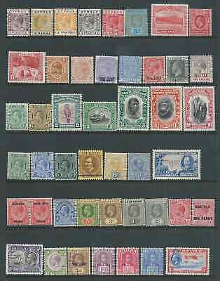 COMMONWEALTH FINE EARLIES FROM VICTORIA-GVth MINT HINGED HIGH VALUES SEEN!