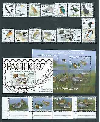 Ireland Lovely Bird Birds Collection Mnh See Both Scans Nice!