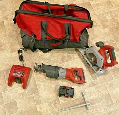 milwaukee 28 volt tool SET WITH BAG AND CHARGER