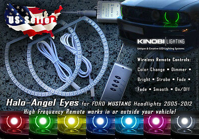 Ford Mustang MultiColor LED Halo-Angel Eyes Rings kit AND RF REMOTE