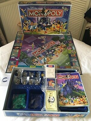 DISNEY EDITION MONOPOLY with 8 Classic Disney Themed tokens, Very nice item