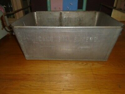 Large Vintage Aluminium Cake Bakers Box Container Tub