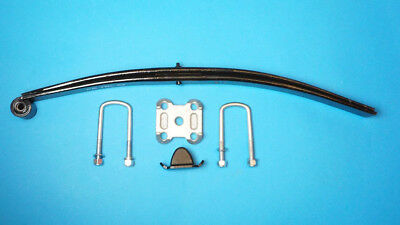 1 x Twin Leaf Spring with U Bolts Bump Stop Clamp Base for Ifor Williams Trailer