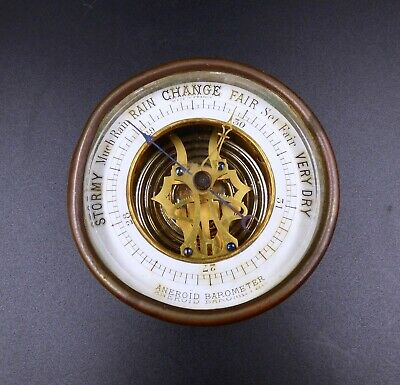 Antique French Aneroid Barometer Circa 1920