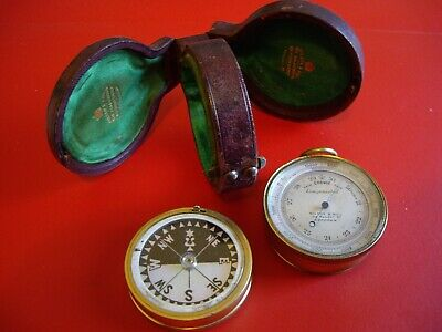 Superb Wilson & Gill Double Sided Pocket Barometer Altimeter Compass Compendium
