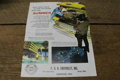 Vintage Chevrolet Truck Dealer Sales Ad Flyer Service P & N Sweetwater Tn