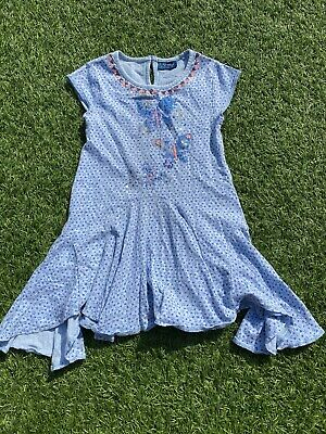 Gorgeous Girls Next Blue & Orange Butterfly Tunic Top Age 6 Yrs