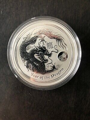 2012 Perth Mint 1 oz .9999 Silver Year Of The Dragon Coin *No Reserve!