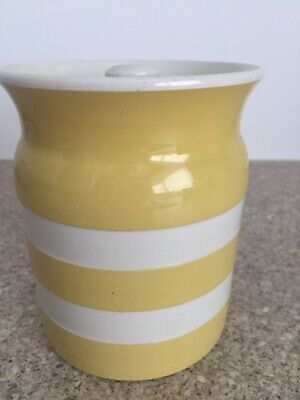 T G Green Yellow Medium Sized Storage Container Cornishware Vintage