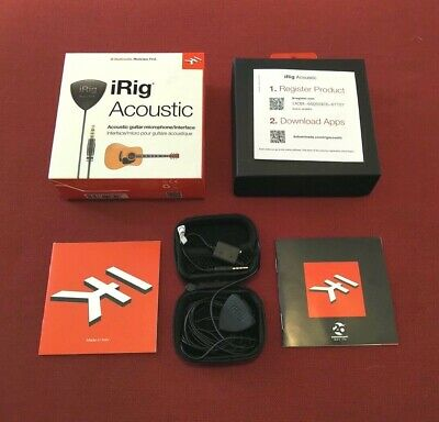 IK Multimedia iRig Acoustic Audio interface - FREE SHIPPING - BRAND NEW IN BOX