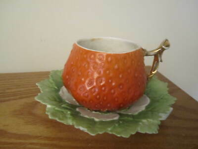 VINTAGE STRAWBERRY Shape  CUP AND SAUCER SET