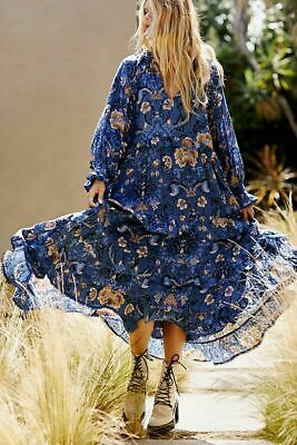 Free People NWT Medium Spell and the Gypsy Collective Aurora Boho Dress Blue
