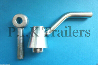 Ramp Fastener Lever Handle & Eye Bolt M12 Thread for Ifor Williams Trailer GP