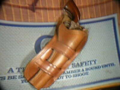 Vintage Sterr, Sexmith marked double loop holster, Colt saa 71/2
