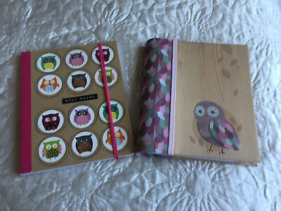 Owl Address Book And Note Book Gift Idea