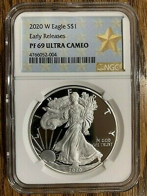 2020-W American Eagle One Ounce Silver Proof Coin NGC PF69UC
