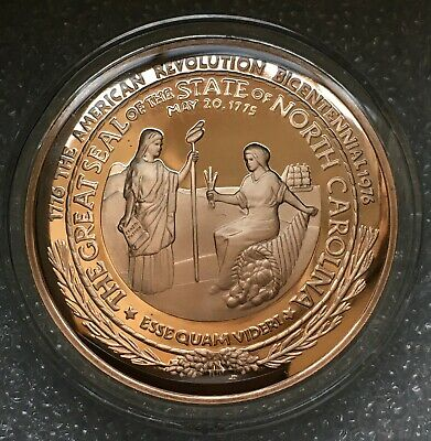 1976 North Carolina American Revolution Bicentennial Bronze Medal