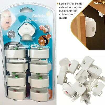 Safety 1st Magnetic Locking System 9-piece Magnetic Key Child Lock New Sealed