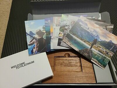 American Express Platinum Wood Phone Stand Block and Promo Material