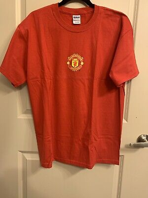 Manchester United Branded T-shirt, 100% Cotton, Red, Size Large