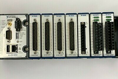 National Instruments cRio-9014 8 slot chasis w/ 7 Modules
