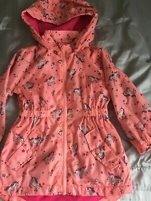 Girls age 4 peach unicorn lightweight coat