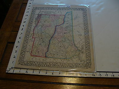 vintage map: 1870 Mitchell Map of VERMONT & NEW HAMPSHIRE