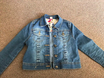 Girls Denim Jacket Blue Jean Jacket Age 7-8 Years vgc Children Summer Coat