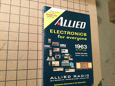 Vintage unused ALLIED ELECTRONICS for everyone 1963 #220
