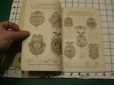Vintage Original CATALOG: 1893 John Robbins mfg BADGES & MEDALS 40pgs