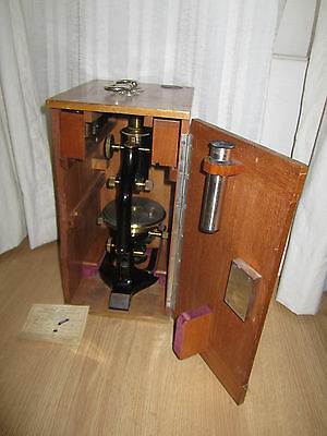 Reichert Wien Vintage Brass Microscope 1924 year Apochromat Optics