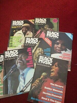 7 copies of Black music, magazine from the 1975, soul, blues, reggae