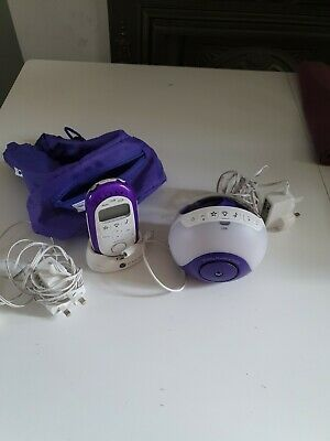 BT Digital Baby Monitor and Pacifier with Lightshow and Lullabies White/ Purple