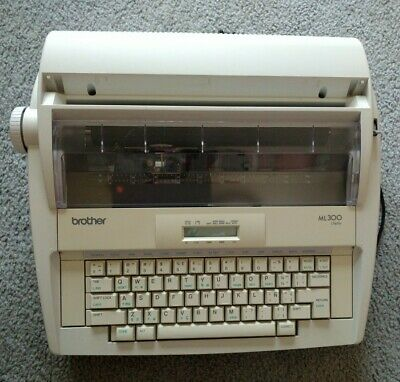 Brother Ml300 Display Portable Electric Typewriter | Tested