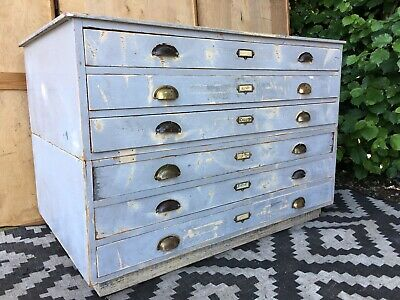 Plan Chest Architects Drawers Map Artists DELIVERY AVAILABLE