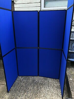 Exhibition Display Stand 8 Panel Portable Folding Show Board Fair. Carry Case